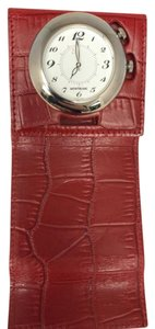 Montblanc Montblanc Travel Alarm Watch Leather Red Case