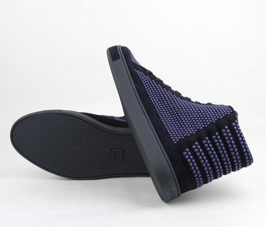 Gucci Dark Blue Suede Leather Studs Lace-up Hi Top Sneaker 10.5g/ Us 11.5 391687 4018 Shoes Image 7