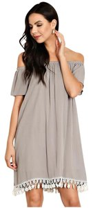 B Sharp short dress Light Grey Off Shoulder on Tradesy