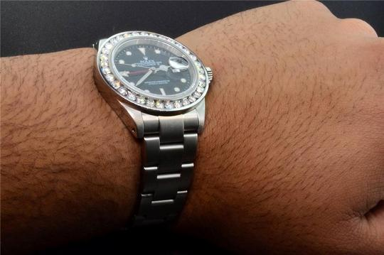 Rolex Diamond Rolex Explorer II Black Dial Stainless Steel Band 6Ct Bezel 40 Image 10
