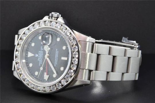 Rolex Diamond Rolex Explorer II Black Dial Stainless Steel Band 6Ct Bezel 40 Image 2