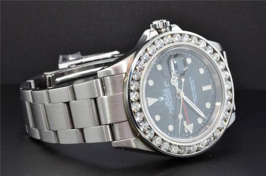 Rolex Diamond Rolex Explorer II Black Dial Stainless Steel Band 6Ct Bezel 40 Image 7