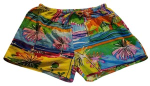 Jams World Hawaii Ocean Villa Tropical Print Beach Mini/Short Shorts
