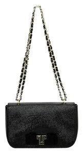 Tory Burch Patent Leather Chain Textured Shoulder Bag
