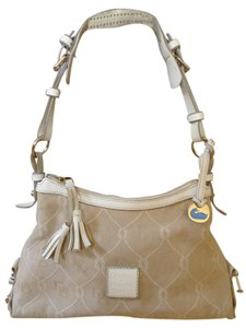Dooney & Bourke Rope Leather Monogram Canvas Hobo Bag