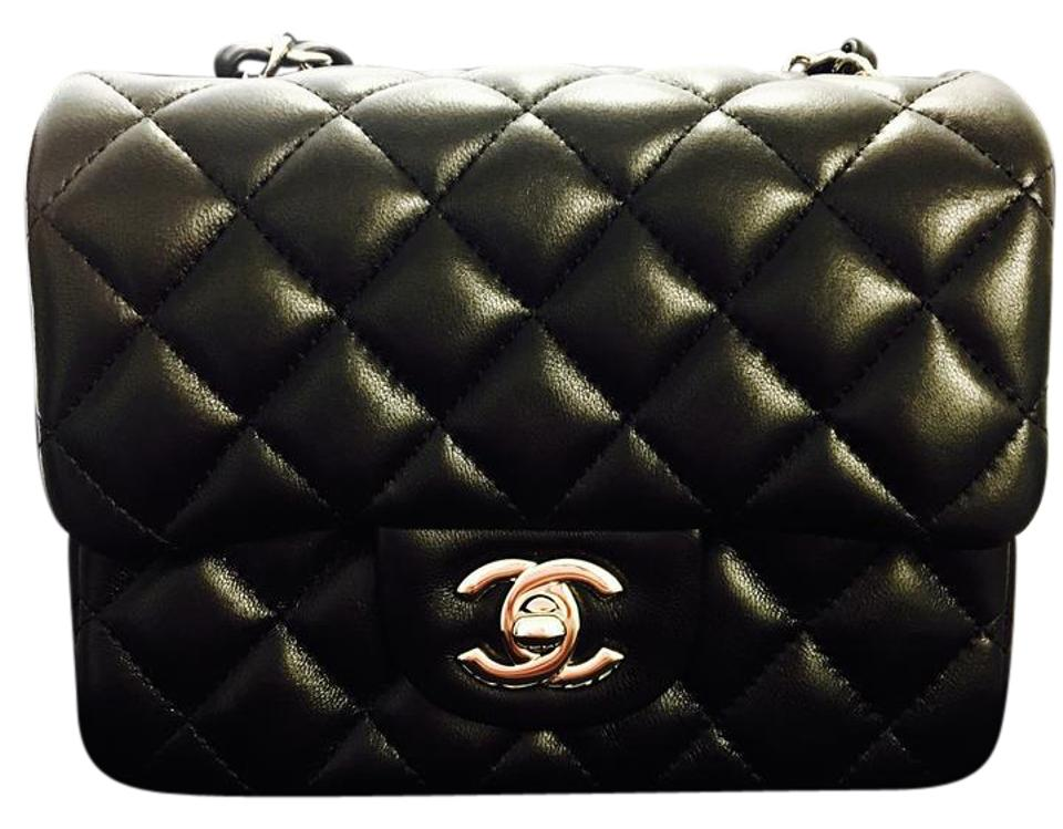 Chanel Classic Flap Classic Mini In with Light Gold Hardware Black ... 215e8b769f187