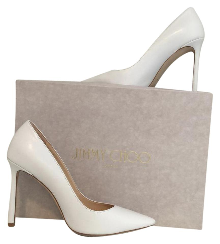 874a5986a18a Jimmy Choo White Leather Romy 100 Pumps Size US 6 Regular (M
