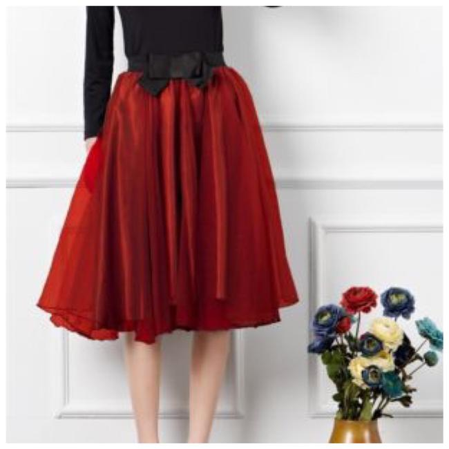 Preload https://img-static.tradesy.com/item/20929057/red-and-black-layered-satin-bow-tulle-organza-midi-skirt-size-os-one-size-0-0-650-650.jpg