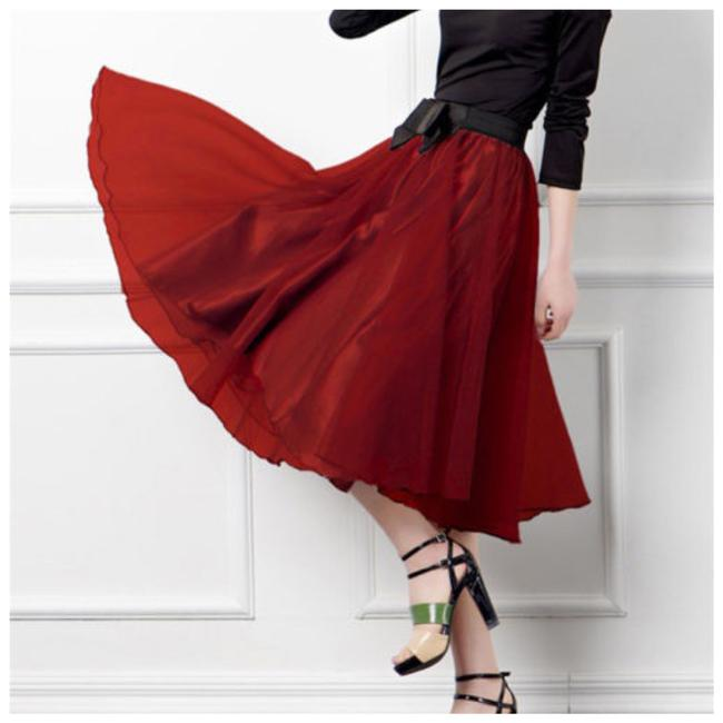 Other Skirt Red and Black Image 1