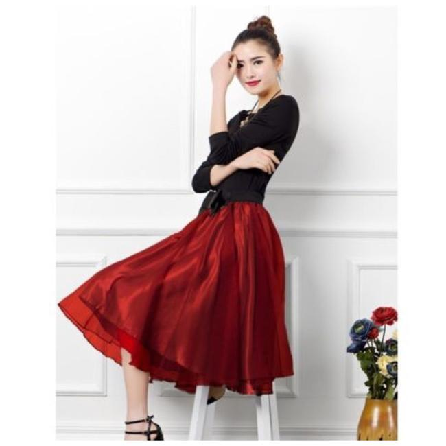 Other Skirt Red and Black Image 2