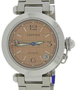 Cartier Cartier Pasha Steel Salmon Pink Date Dial 36mm Automatic Watch 2324