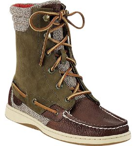 Sperry Hikerfish Olive/Tan Boots