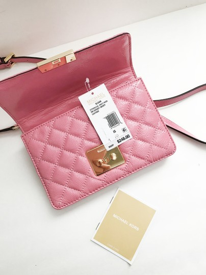 Michael Kors Quilted Patent Leather Cross Body Bag