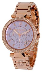 Michael Kors NEW WOMENS MICHAEL KORS (MK6169) PARKER CHRONO ROSE GOLD PURPLE WATCH