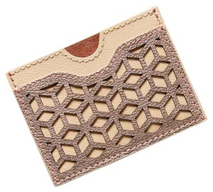 Anthropologie leaser cut leather card holder