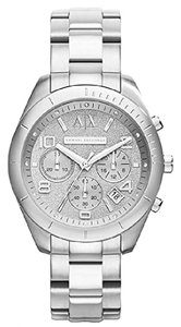 A|X Armani Exchange NEW WOMENS ARMANI EXCHANGE A|X (AX5515) SILVER GLITZ CHRONOGRAPH WATCH