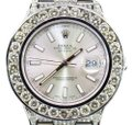 Rolex Mens New Rolex DateJust II Iced Out Flooded With Genuine Diamonds 30CT Image 0