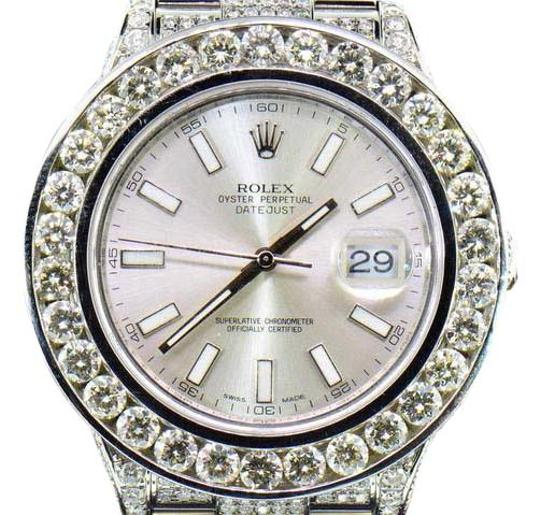 Preload https://img-static.tradesy.com/item/20929287/rolex-silver-mens-new-datejust-ii-iced-out-flooded-with-genuine-diamonds-30ct-watch-0-1-540-540.jpg