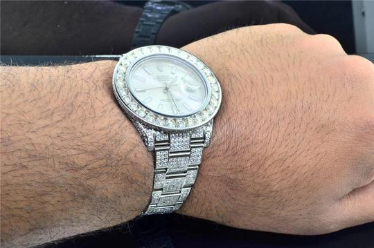 Rolex Mens New Rolex DateJust II Iced Out Flooded With Genuine Diamonds 30CT Image 10