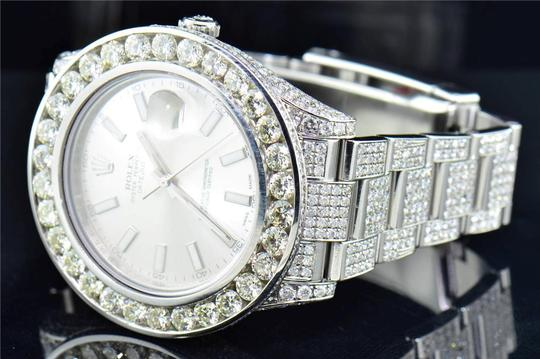 Rolex Mens New Rolex DateJust II Iced Out Flooded With Genuine Diamonds 30CT Image 2