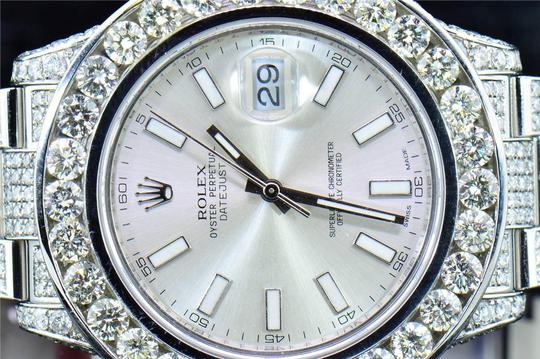 Rolex Mens New Rolex DateJust II Iced Out Flooded With Genuine Diamonds 30CT Image 3