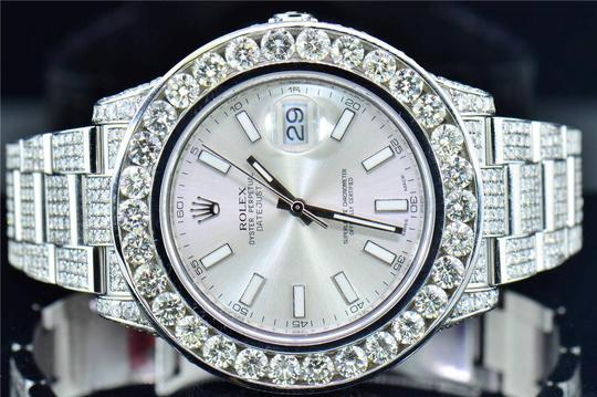 Rolex Mens New Rolex DateJust II Iced Out Flooded With Genuine Diamonds 30CT Image 4