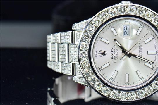 Rolex Mens New Rolex DateJust II Iced Out Flooded With Genuine Diamonds 30CT Image 5