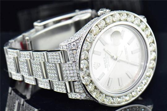 Rolex Mens New Rolex DateJust II Iced Out Flooded With Genuine Diamonds 30CT Image 7
