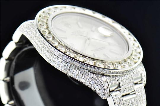 Rolex Mens New Rolex DateJust II Iced Out Flooded With Genuine Diamonds 30CT Image 8