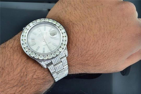 Rolex Mens New Rolex DateJust II Iced Out Flooded With Genuine Diamonds 30CT Image 9