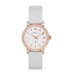 Marc Jacobs Marc Jacobs Women's Baker Mini Rose Tone White Leather Watch MBM1284
