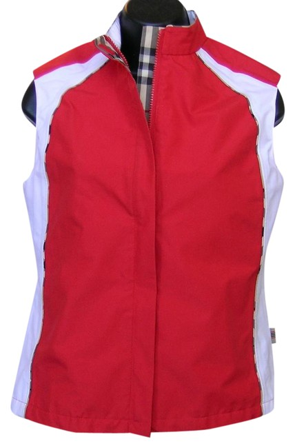 Item - Red/White/Check Plaid Pipping Golf Activewear Outerwear Size 4 (S, 27)