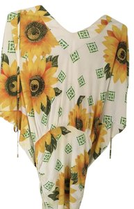 Dolce&Gabbana short dress Sunflower multi color on Tradesy