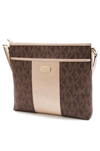 Michael Kors Brown, gold-tone Messenger Bag