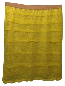 BCBGMAXAZRIA Skirt Yellow