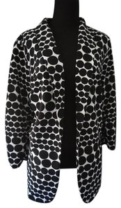 Christopher & Banks Black & White Polka Dot Blazer