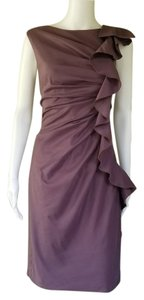 Suzi Chin for Maggy Boutique short dress Mauve Ruffle Cotton Blend Sheath Sleeveless on Tradesy