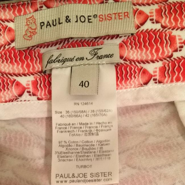 Paul & Joe Paulandjoe Paul&joe Sister Paul&joesister France Designer Quality Summer Print Printed Fish Shorts Pink White