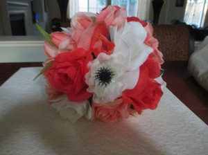 Bright & Light Corals and Cream White 13 Pc. Bouquet Set Other