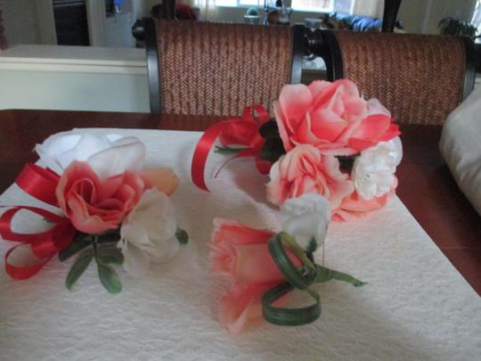 Bright & Light Corals and Cream White 13 Pc. Bouquet Set Other Image 1