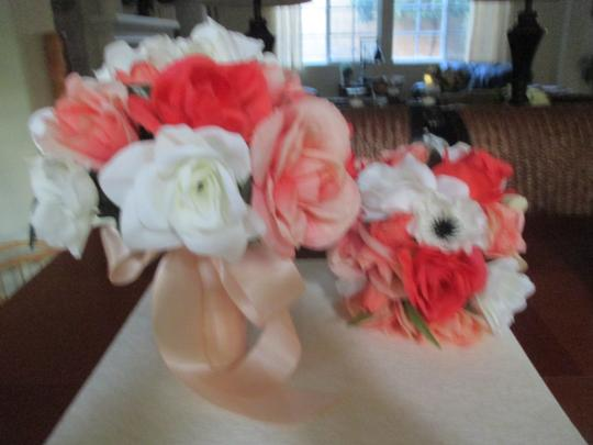 Bright & Light Corals and Cream White 13 Pc. Bouquet Set Other Image 2