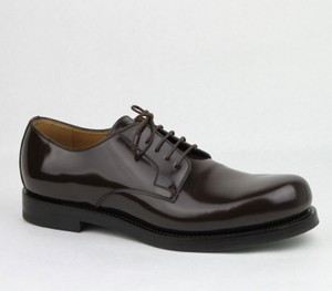 Gucci Brown Shiny Leather Cocoa Oxford Lace-up 8 / Us 9 386542 2140 Shoes