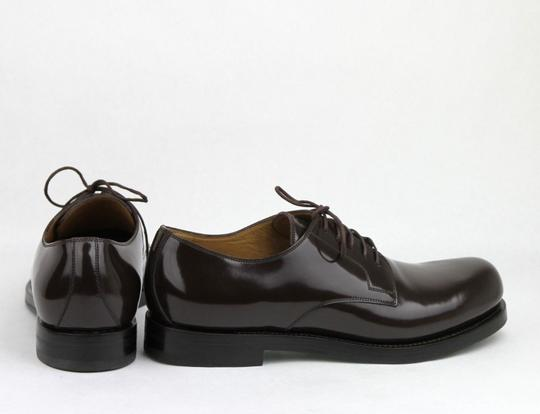 Gucci Brown Shiny Leather Cocoa Oxford Lace-up 8 / Us 9 386542 2140 Shoes Image 4