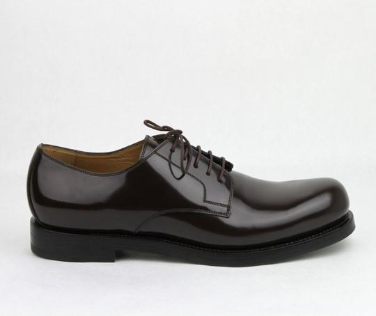 Gucci Brown Shiny Leather Cocoa Oxford Lace-up 8 / Us 9 386542 2140 Shoes Image 5