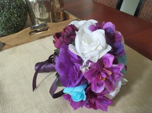 Purples Aqua Cream White 13 Pc. Bouquet Set Other