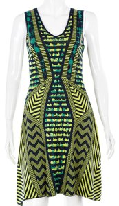 BCBGMAXAZRIA Bcbg Silk Cotton Striped Sleeveless Dress