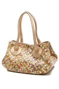 Bottega Veneta Satchel in Gold, multicolor