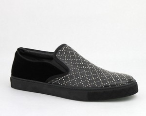 Gucci Black Studded Leather Suede Slip-on Sneaker 6g / Us 6.5 322758 Shoes