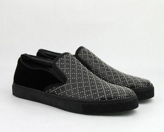 Gucci Black Studded Leather Suede Slip-on Sneaker 6g / Us 6.5 322758 Shoes Image 3