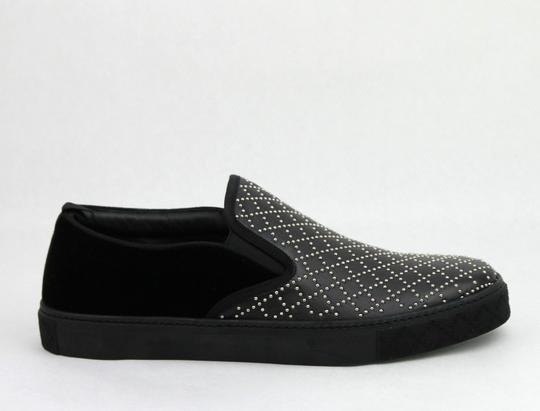 Gucci Black Studded Leather Suede Slip-on Sneaker 6g / Us 6.5 322758 Shoes Image 6
